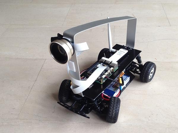 Building an Autonomous Car with Rasbperry Pi and Navio2 running