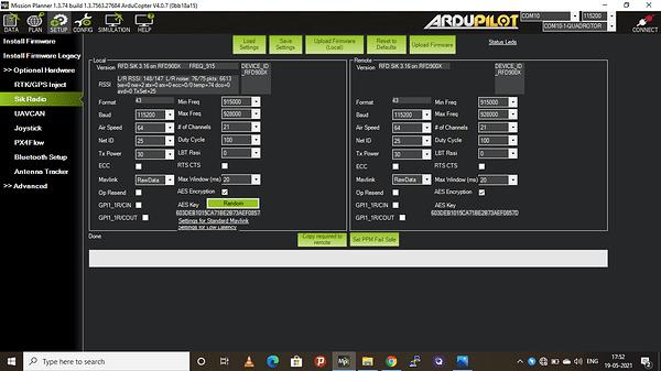 RFD 900 RAW data