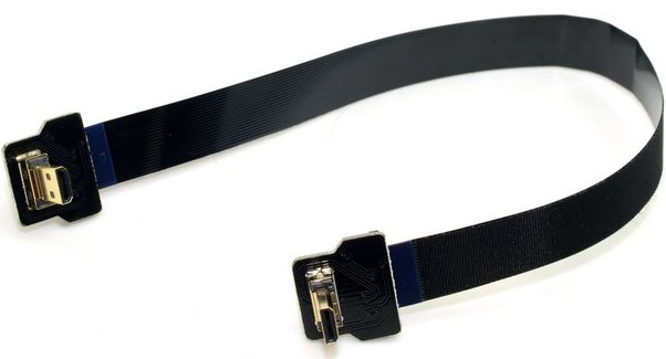 Angled-FPV-Micro-HDMI-Male-to-Micro-HDMI-FPC-Flat-Cable-10cm-20cm-30cm-50cm-100cm