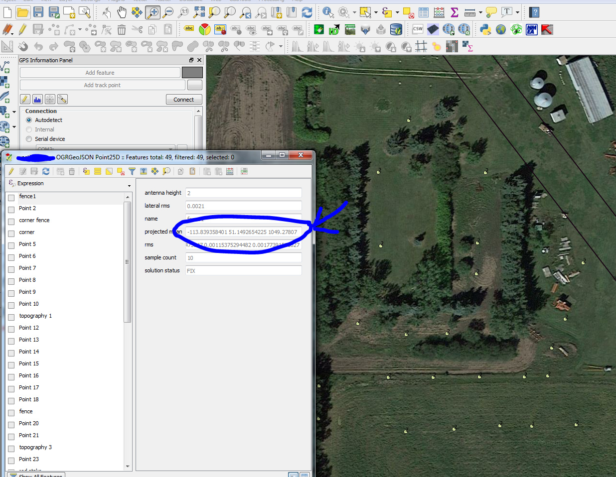 Reach RS Survey Export to CSV Workflow - QGIS - Project share