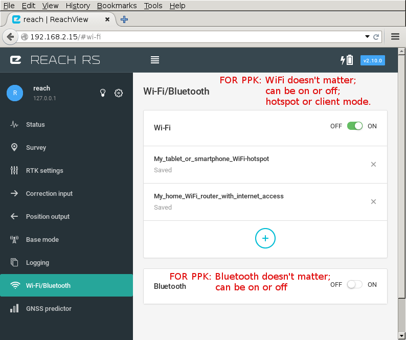 HowTo: ReachView settings for PPK - Getting started - Community Forum