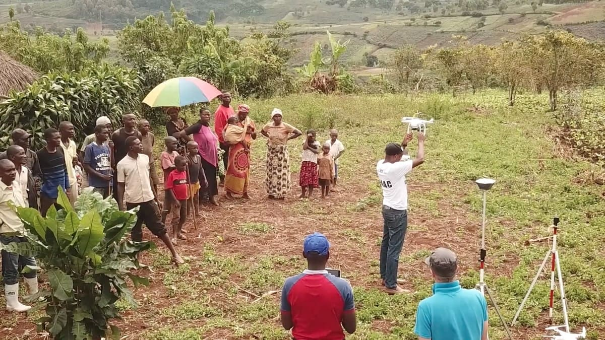 Drone mapping with GCPs in DRC