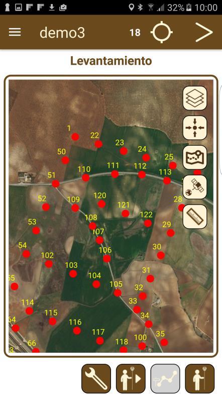 puntos1 TcpGPS Software topográfico para GPS